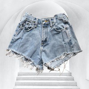 Vintage Wrangler Reworked Distressed High Waisted Shorts